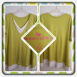 Womans Lime Green Top Size 1X